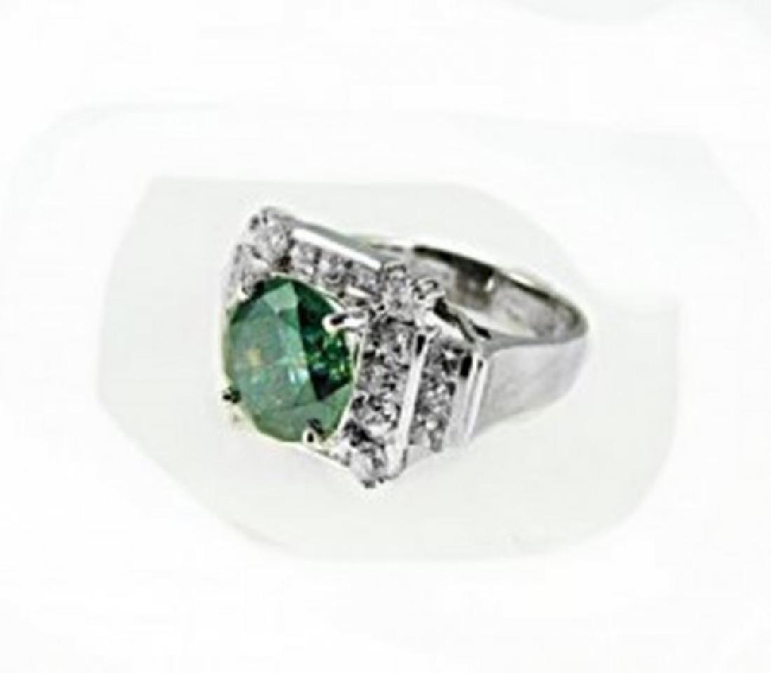 Diamond & Moissanite Ring 5.73CT 14K W/g - 5