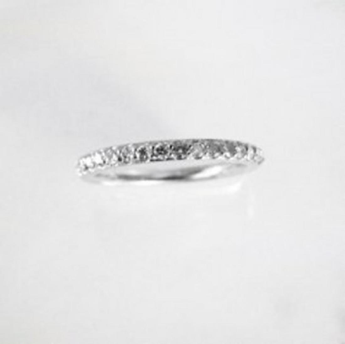 Wedding Ring Diamond .40 Carat 14K White Gold
