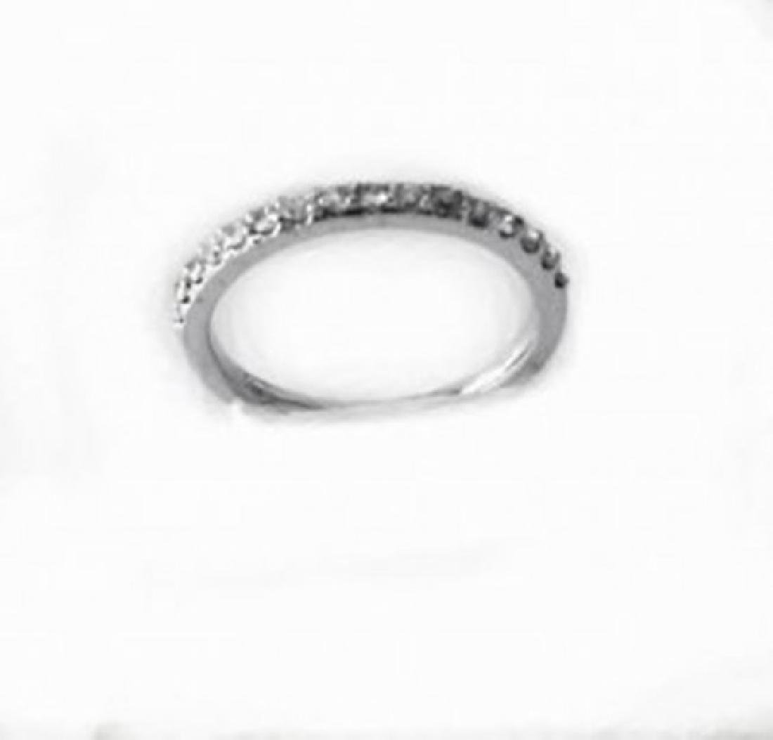 Wedding Ring Diamond .40 Carat 14K White Gold - 2