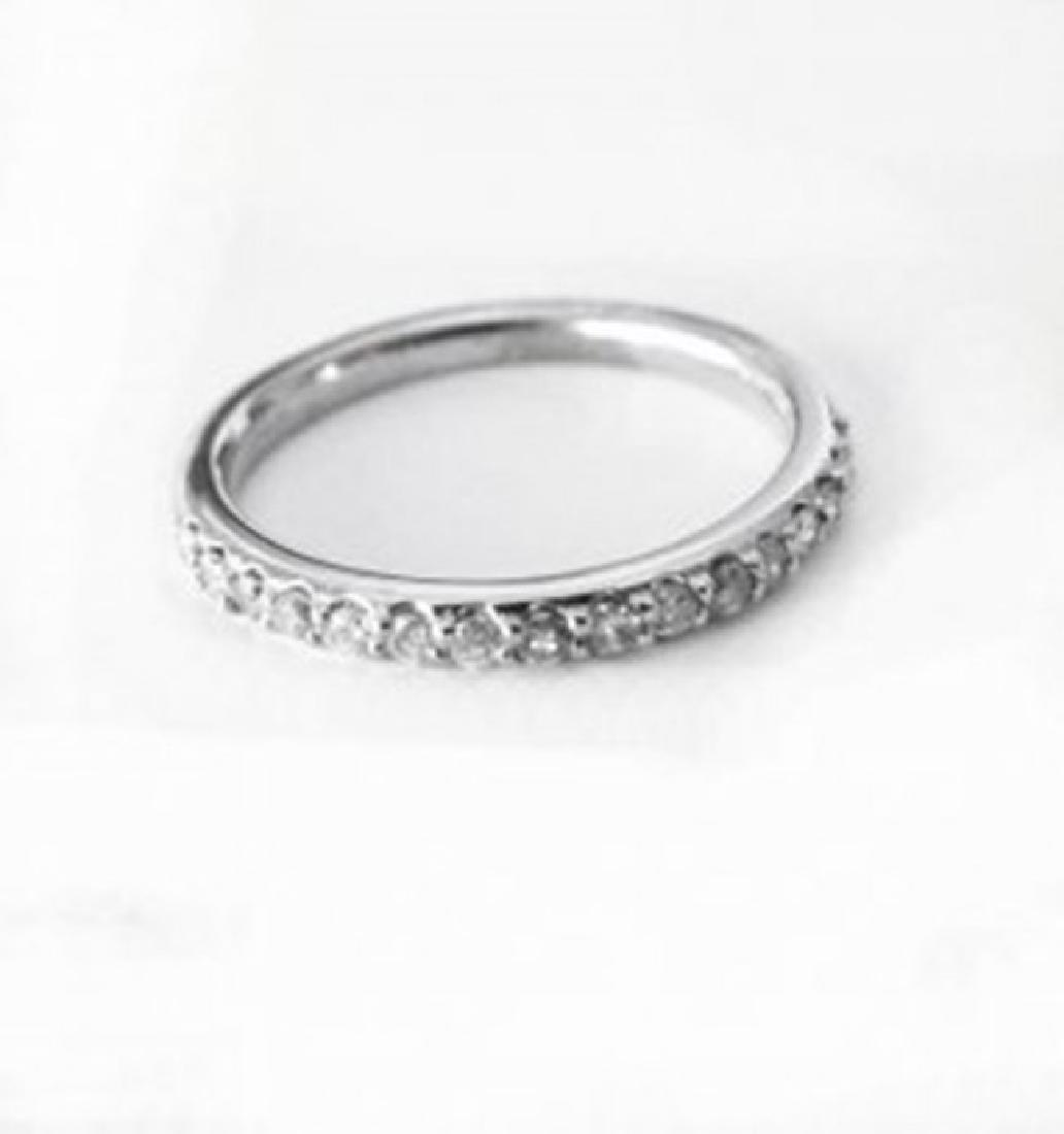 Wedding Ring Diamond .40 Carat 14K White Gold - 3