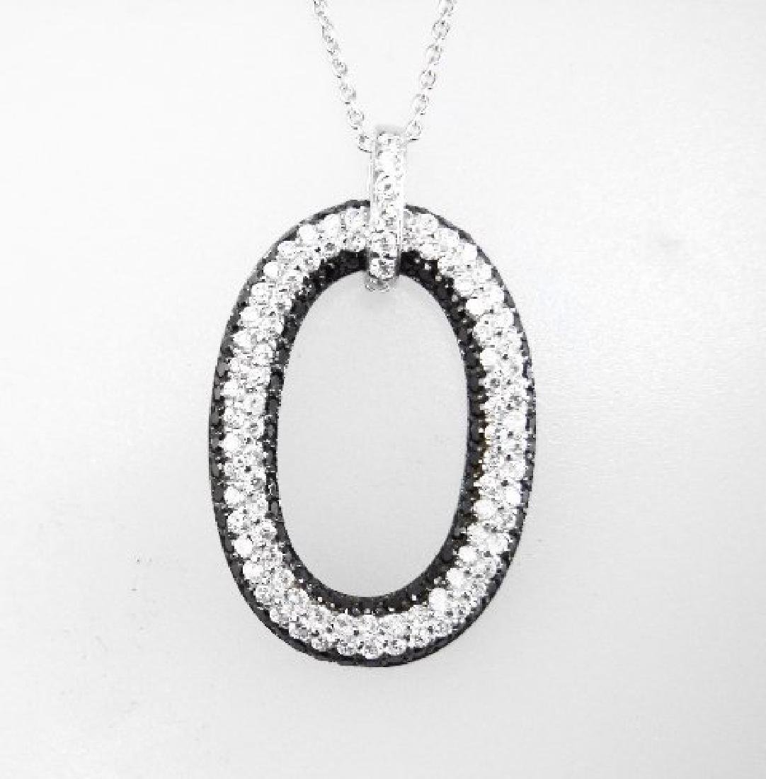 Creation Diamond W/B 1.00 CT Necklace 18k Y/G Overlay - 2