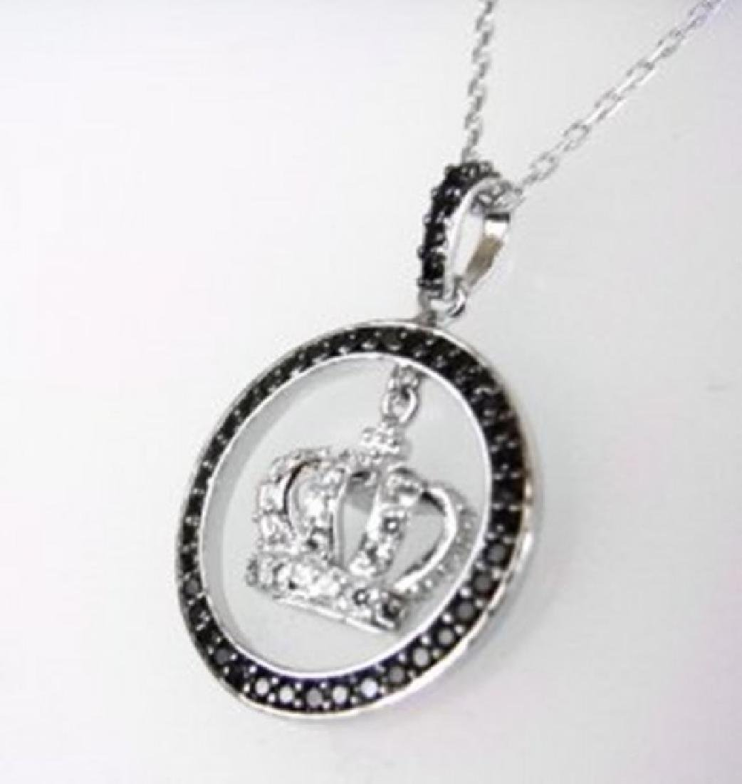 Creation Diamond W/B 2.16 CT Necklace 18k Y/G Overlay - 2