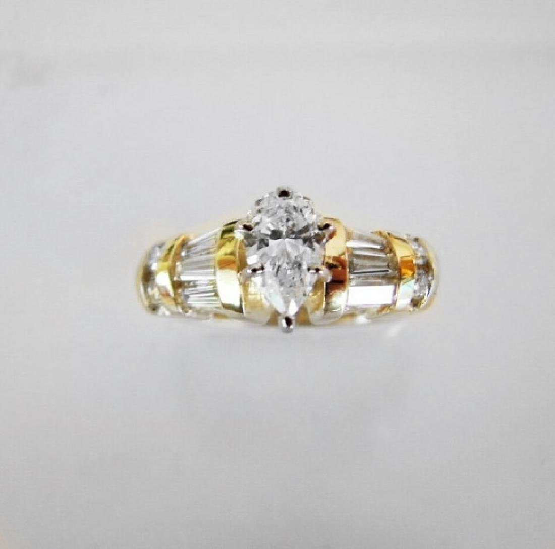 Anniversary Diamond Ring 1.37 Carat 14k Yellow Gold