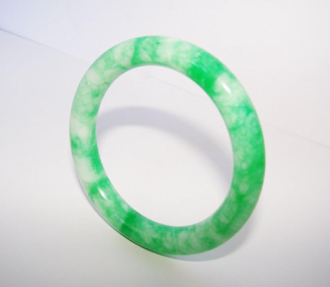 Natural Jade Bangle Grade A Inner Diameter: 57mm - 2