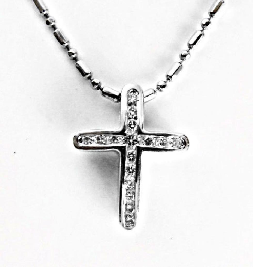 Diamond Cross Pendant: .35 Carat 14k W/g