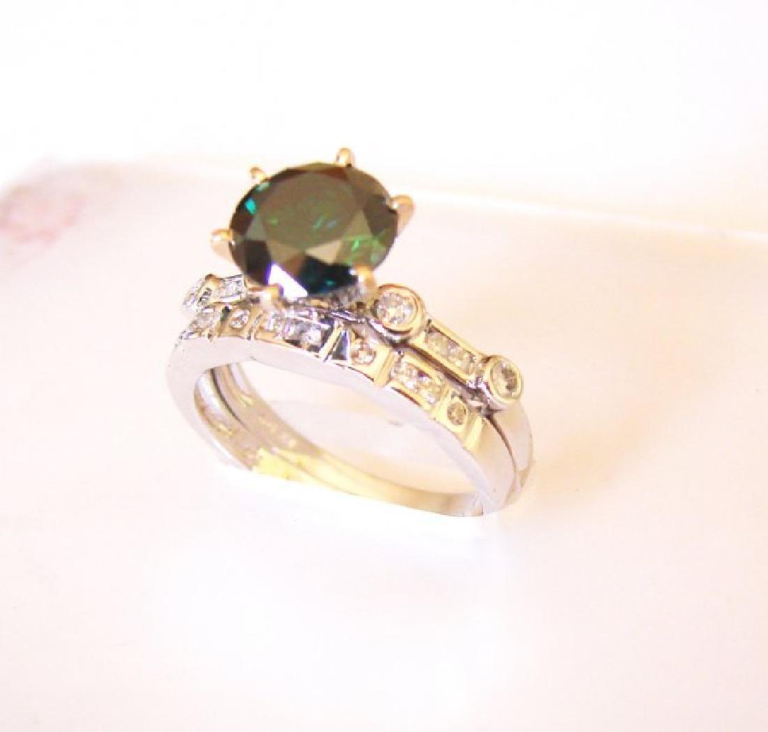 Natural Diamond Moissanite Wedding Ring 2.12Ct 18k W/g - 2