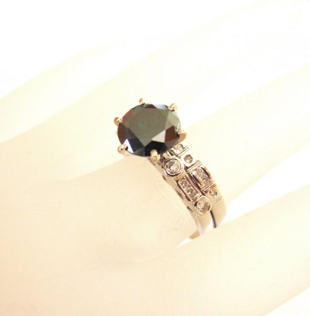 Natural Diamond Moissanite Wedding Ring 2.12Ct 18k W/g - 3