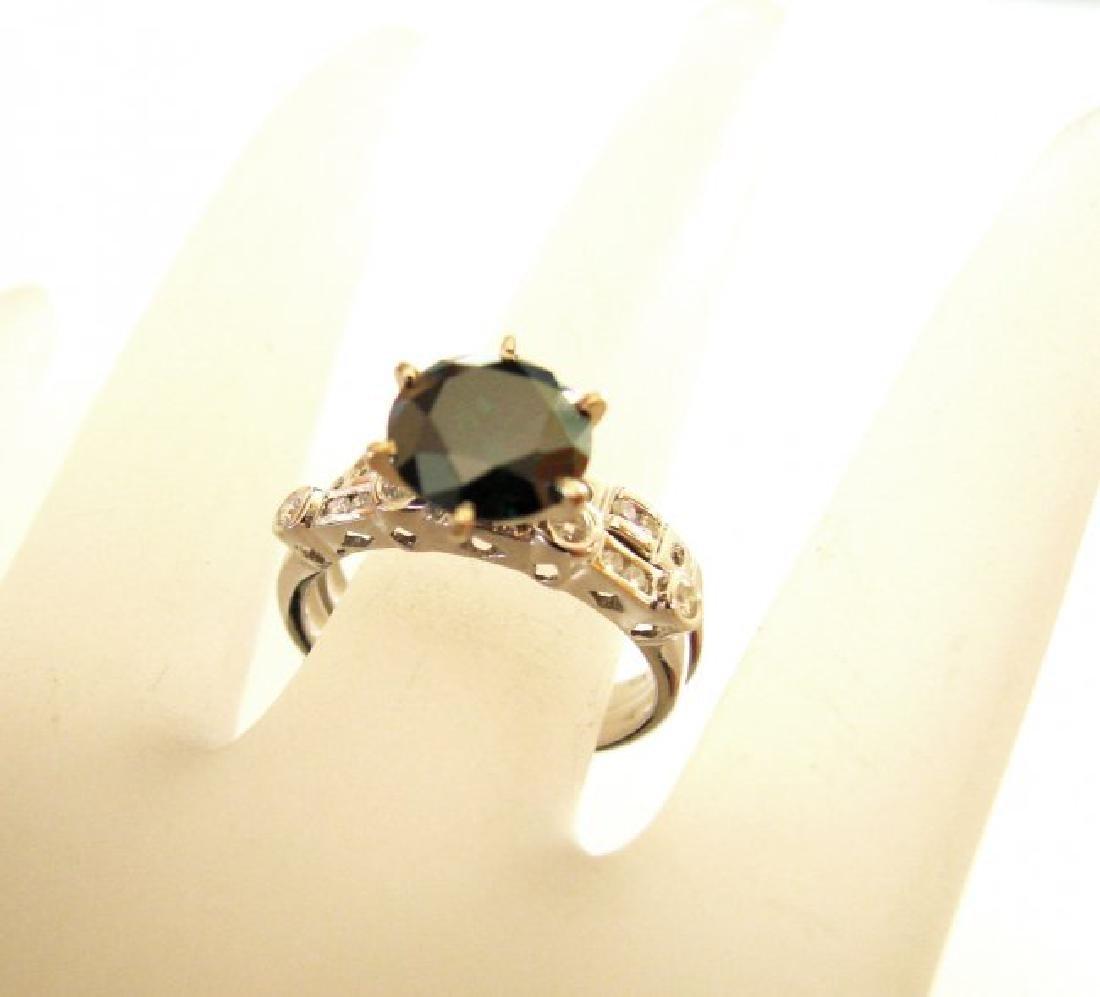 Natural Diamond Moissanite Wedding Ring 2.12Ct 18k W/g - 4