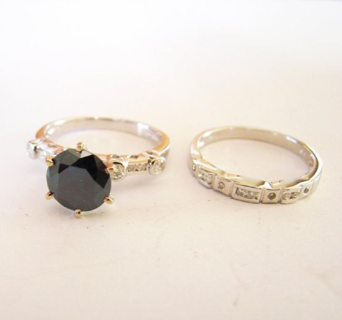Natural Diamond Moissanite Wedding Ring 2.12Ct 18k W/g - 5