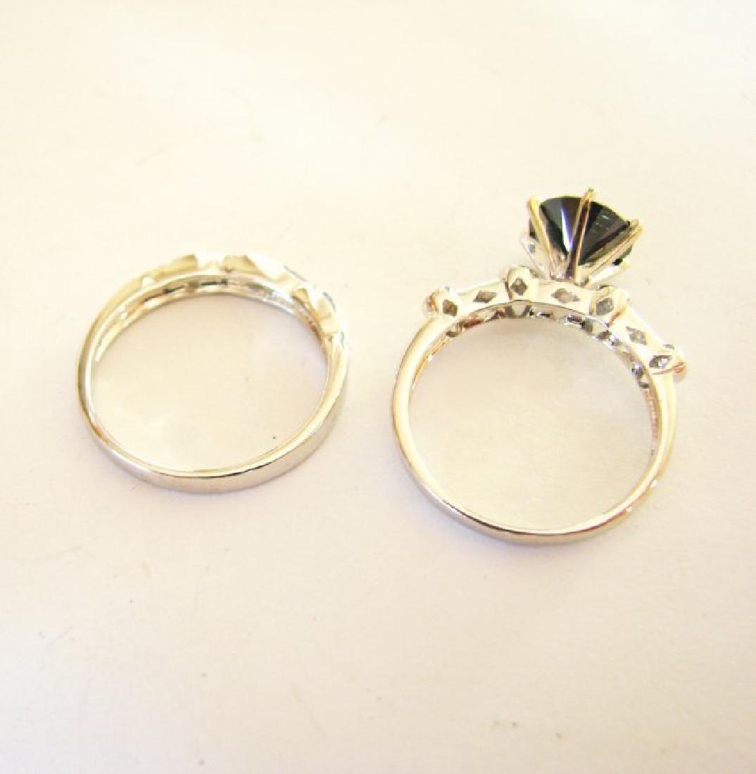 Natural Diamond Moissanite Wedding Ring 2.12Ct 18k W/g - 6