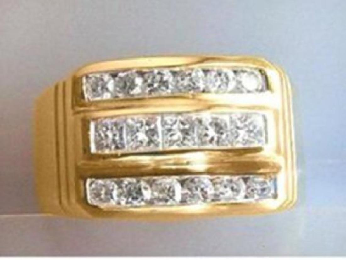 Man's Diamond Ring 1.25 Carat 14k Y/g Size 9