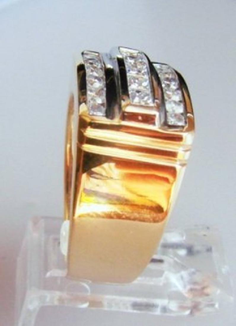 Man's Diamond Ring 1.25 Carat 14k Y/g Size 9 - 2