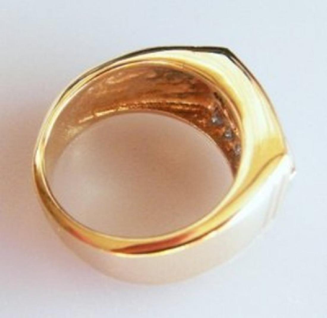 Man's Diamond Ring 1.25 Carat 14k Y/g Size 9 - 3
