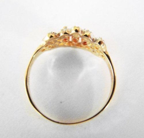 Marquise Ruby Diamond Ring .52Ct 14k Yellow Gold - 3