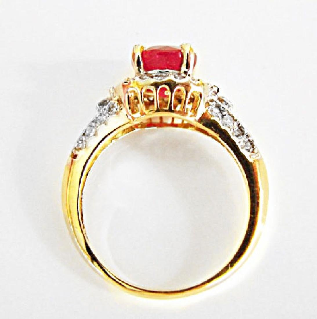 Ruby Diamond Ring 2.37Ct 14k Yellow Gold - 3