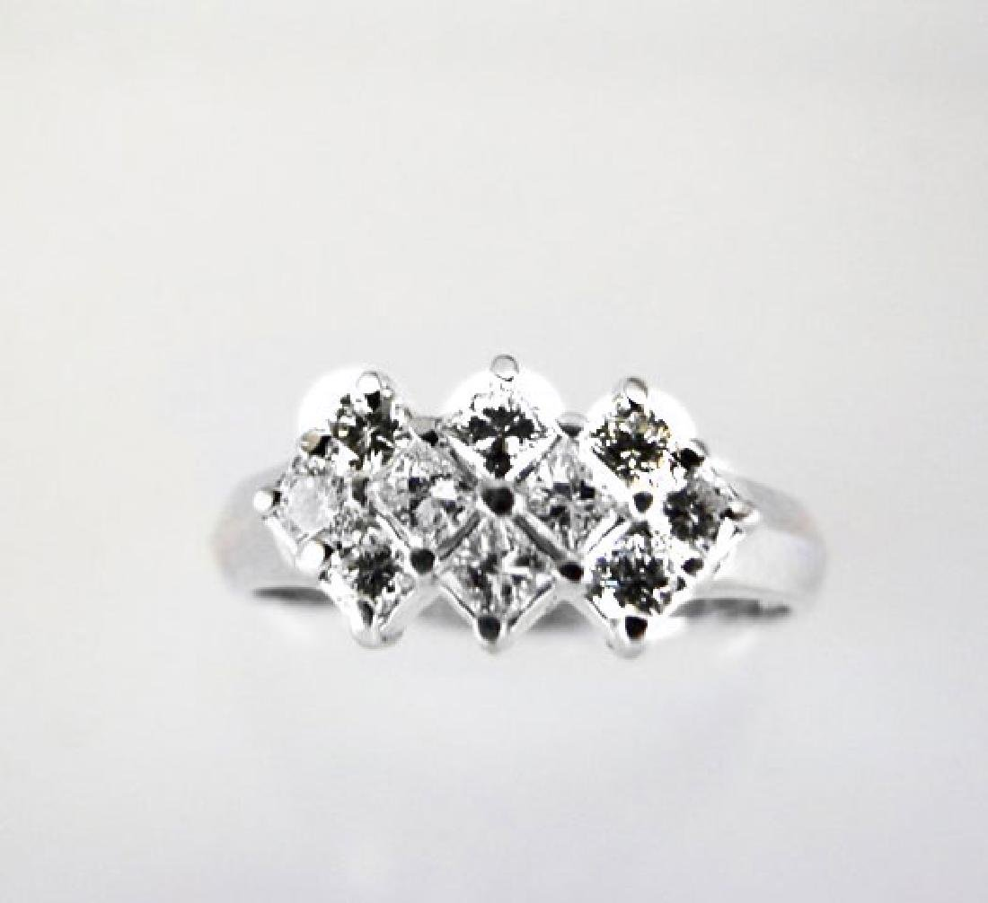 Anniversary Diamond Ring .76Ct 14k W/g