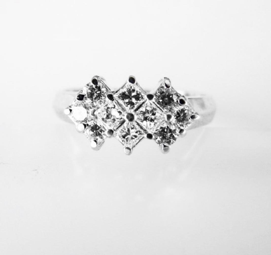 Anniversary Diamond Ring .76Ct 14k W/g - 2
