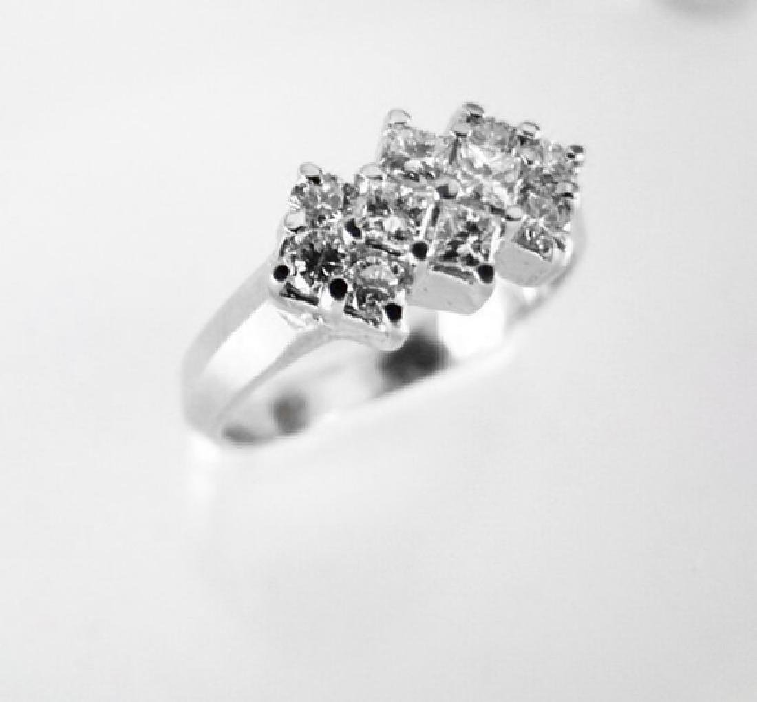Anniversary Diamond Ring .76Ct 14k W/g - 3