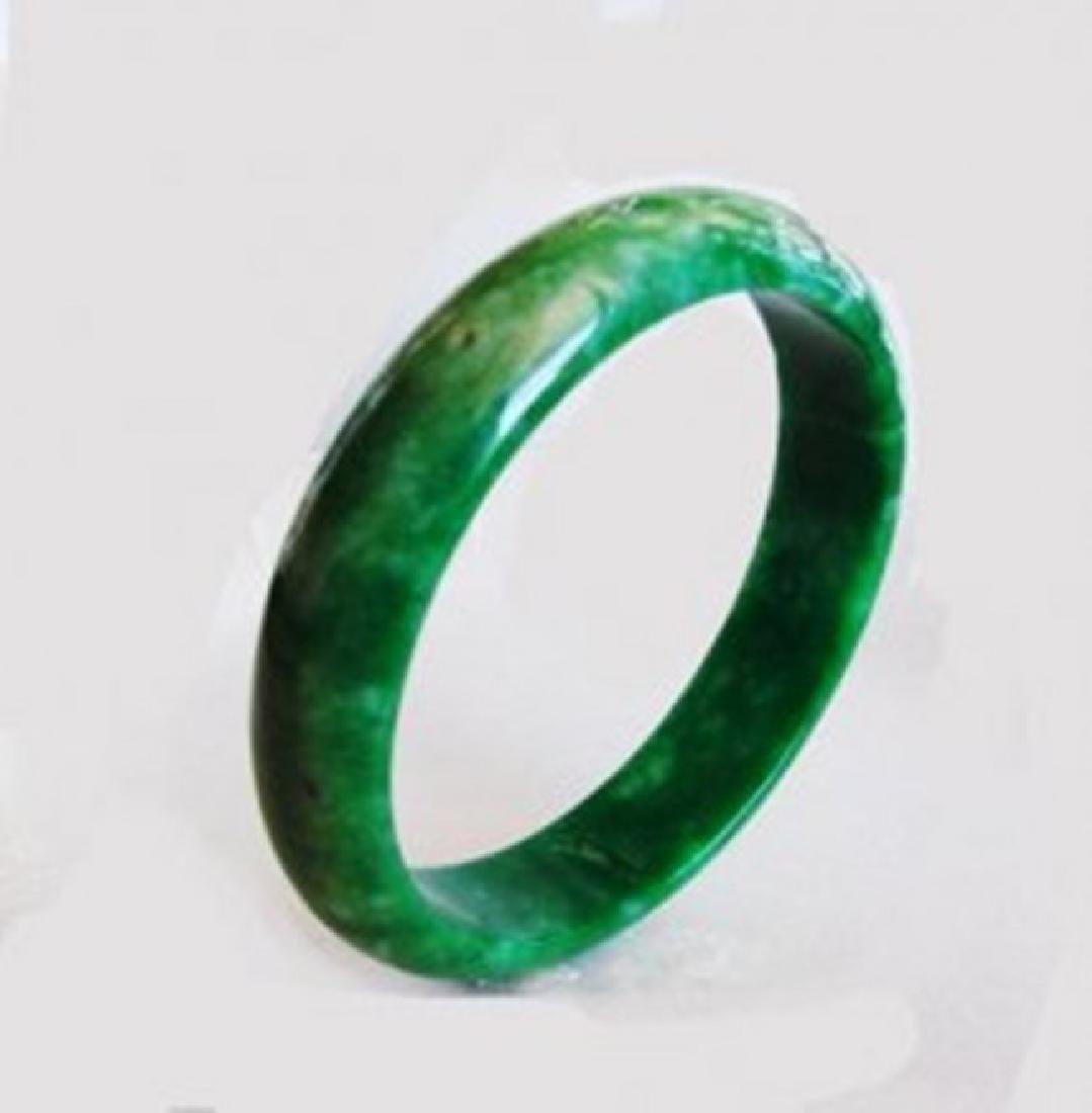 Natural Jaideite Jade Bangle Green Grade A Size: 7 - 2