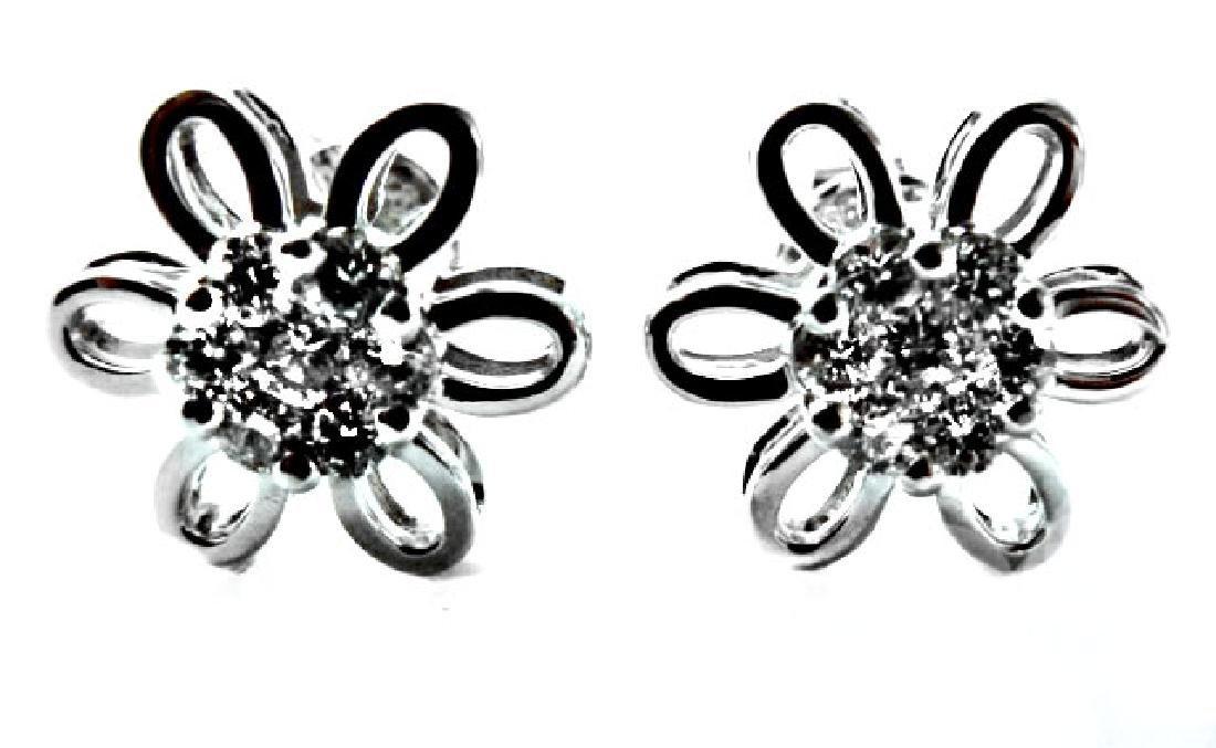Rosita Diamond Earring: .82 Carat 14k W/g
