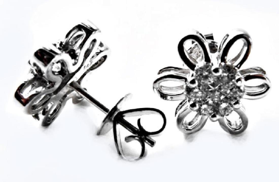 Rosita Diamond Earring: .82 Carat 14k W/g - 2