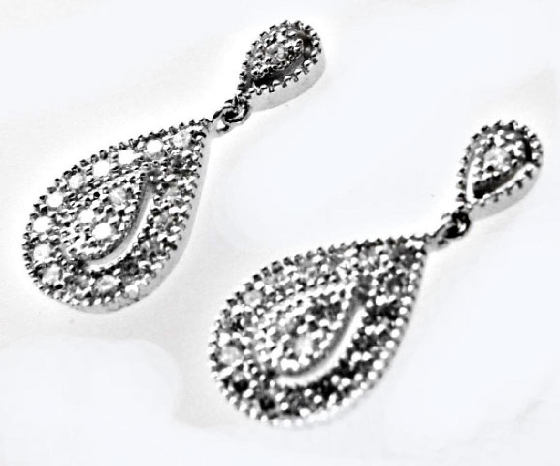 Stunning Diamond Earrings .53 Carat 14k W/g