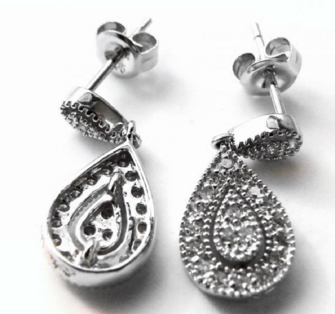 Stunning Diamond Earrings .53 Carat 14k W/g - 2