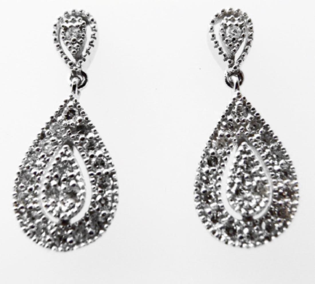 Stunning Diamond Earrings .53 Carat 14k W/g - 3