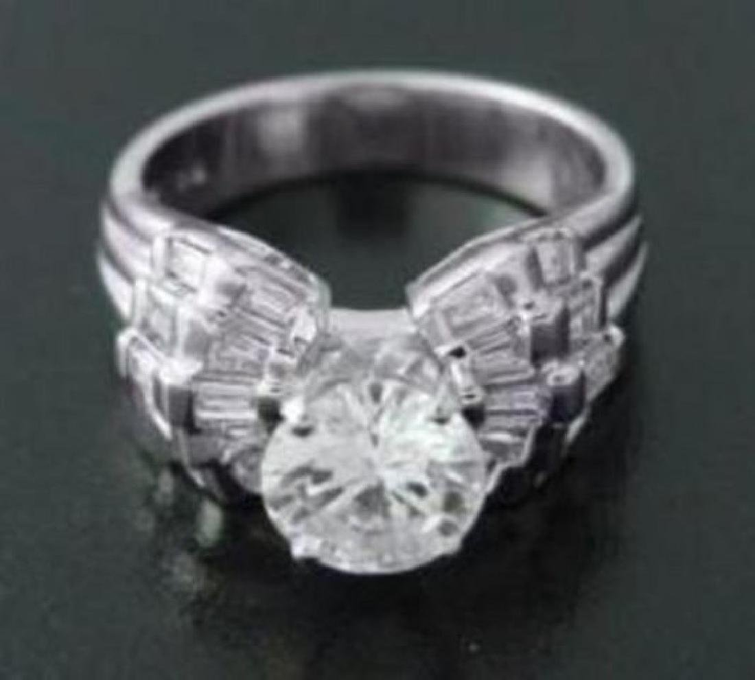 Anniversary Diamond Ring 2.30 Carat 14k W/g - 2