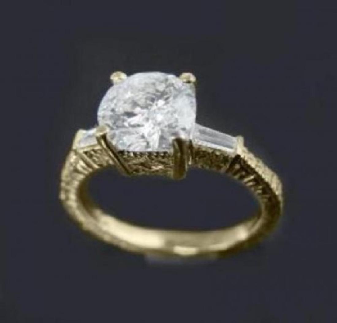 Anniversary Diamond Ring 1.65 Carat 14k Y/G