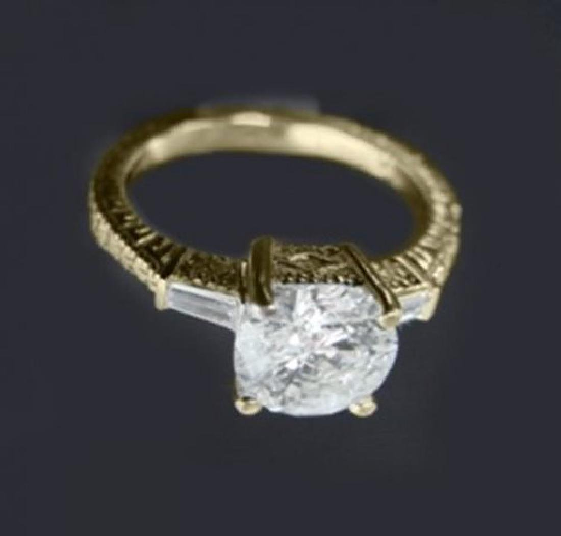 Anniversary Diamond Ring 1.65 Carat 14k Y/G - 2