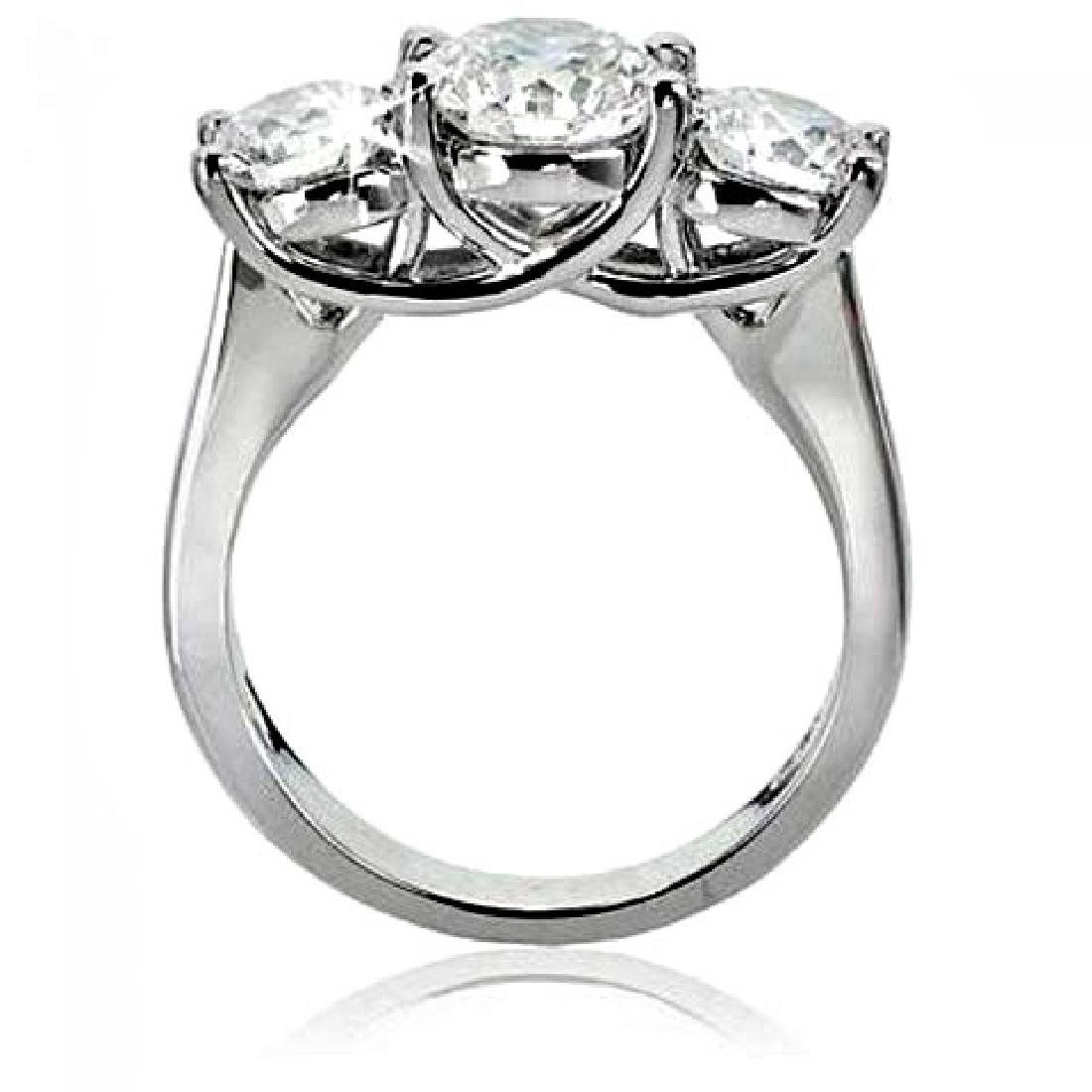 Present Past Future Diamond Ring 2.03Ct 14k White Gold - 2
