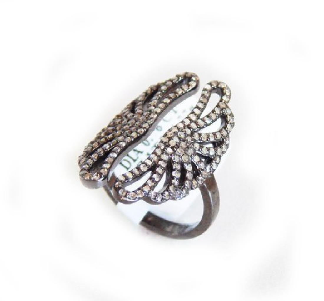 Vintage Inspired Diamond Ring. 79Ct 18k B/g Overlay - 2