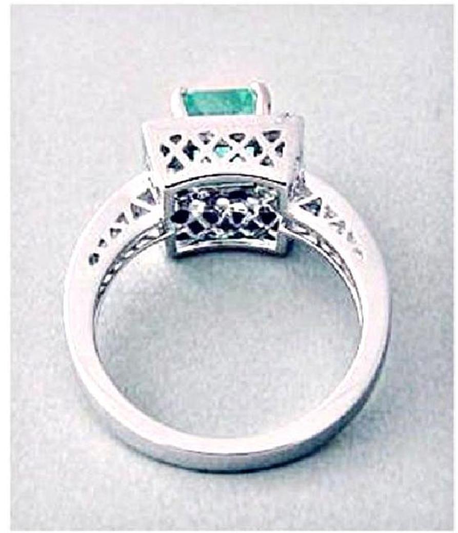 Emerald Ring 1.41CT Diamond: .68 CT14k W/g - 3