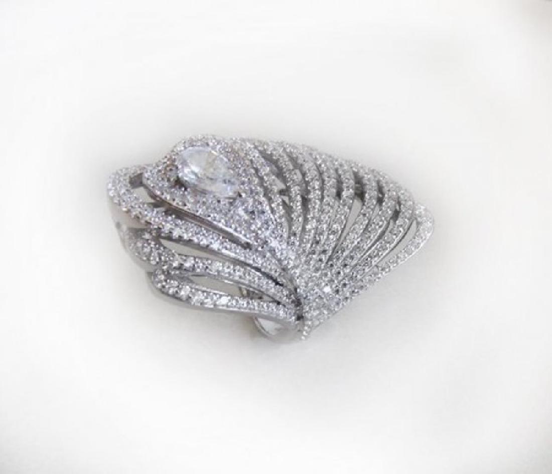 Creation Diamond Rings 3.45Ct 18K W/g Overlay
