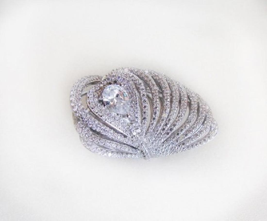Creation Diamond Rings 3.45Ct 18K W/g Overlay - 2