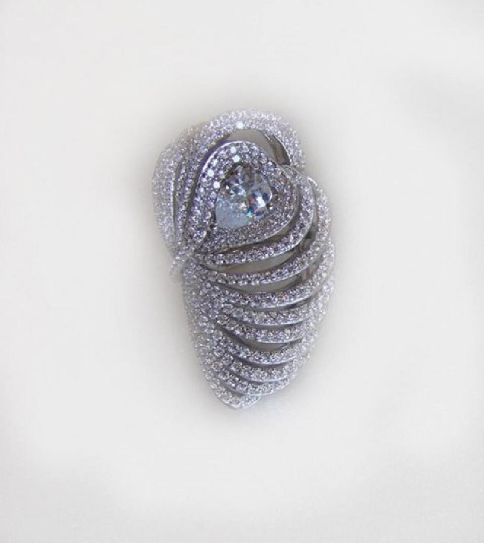 Creation Diamond Rings 3.45Ct 18K W/g Overlay - 3