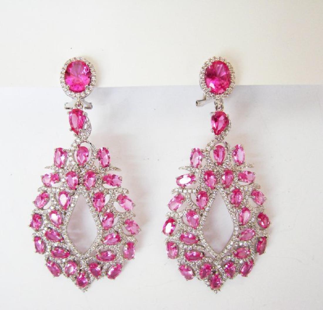 Creation, Diamond Earrings 14.48Ct 18k w/g Overlay - 2