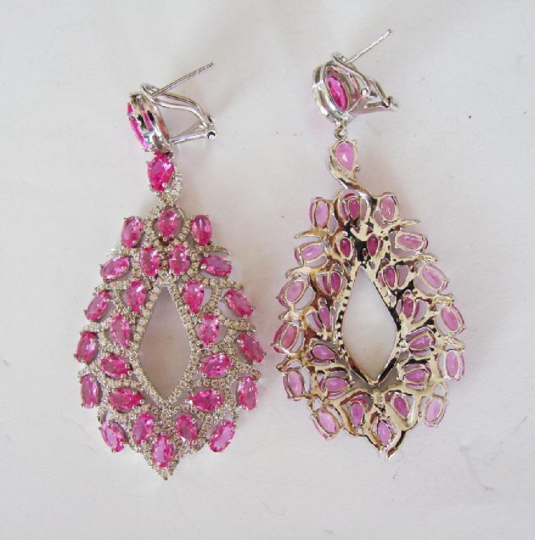 Creation, Diamond Earrings 14.48Ct 18k w/g Overlay - 3