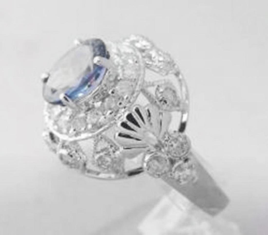 Tanzanite Ring  1.73CT Diamond: 1.00 CT 14k W/g - 2