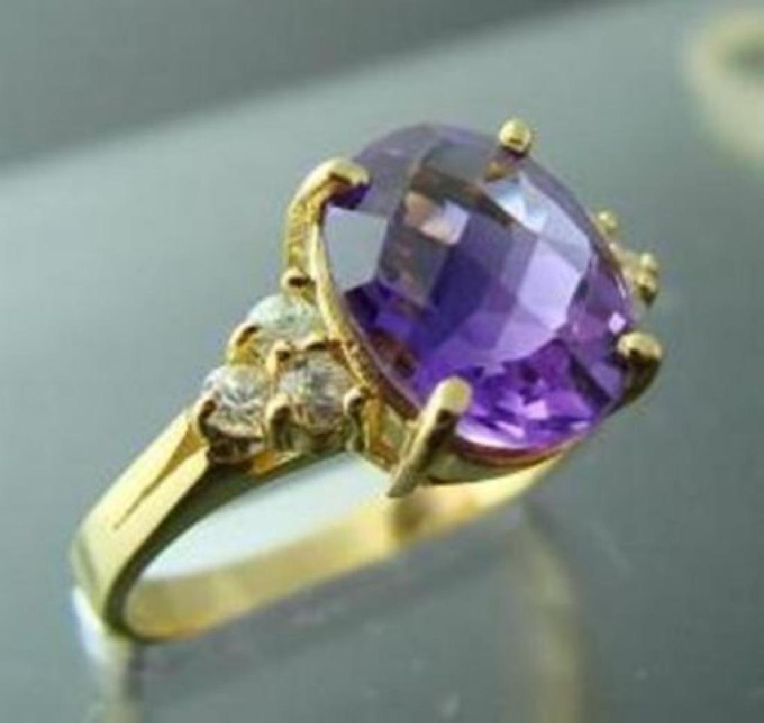 Amethyst Ring 2.40CT/Diamond: .24 Ct Ring  14k Y/G - 2