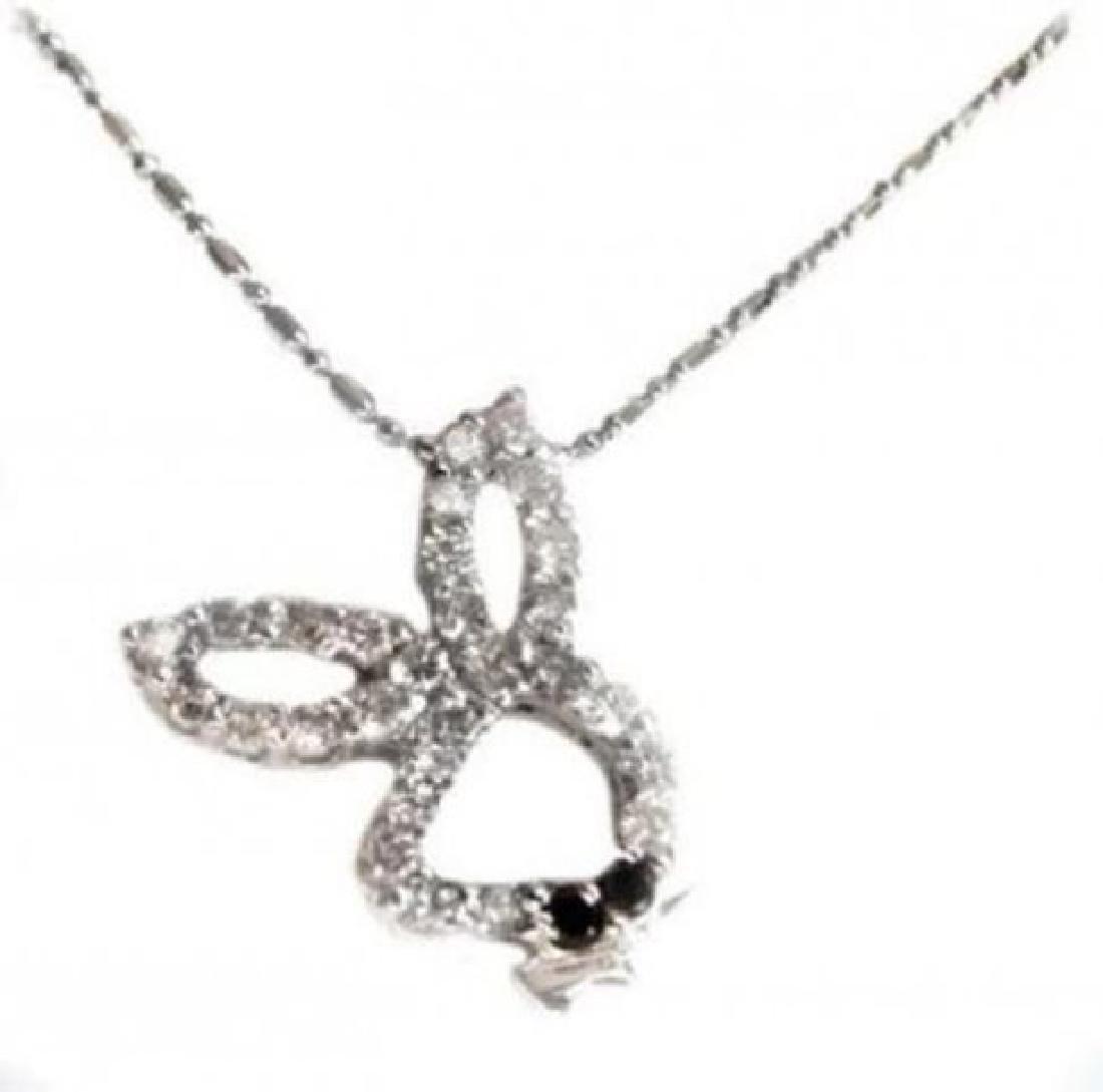 Bunny Diamond Pendant 1.20 Carat 14k W/G