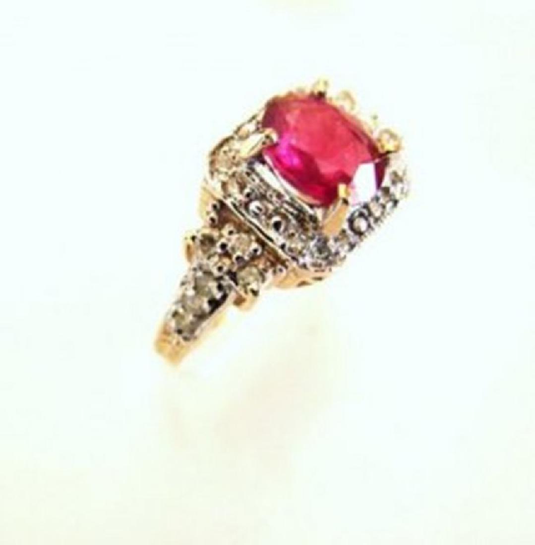 Anniversary Ruby Diamond Ring 4.59Ct 14k Y/g - 2
