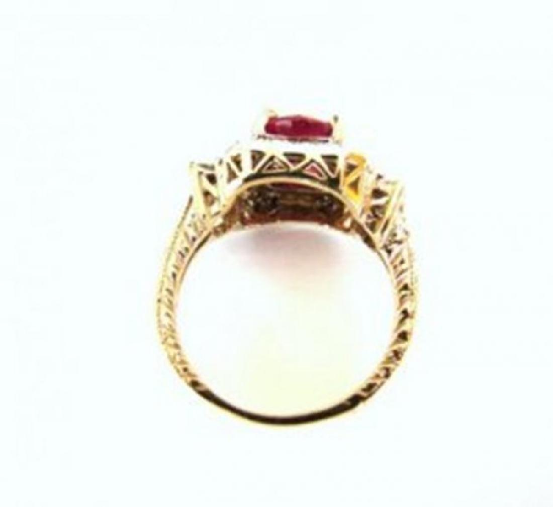 Anniversary Ruby Diamond Ring 4.59Ct 14k Y/g - 3