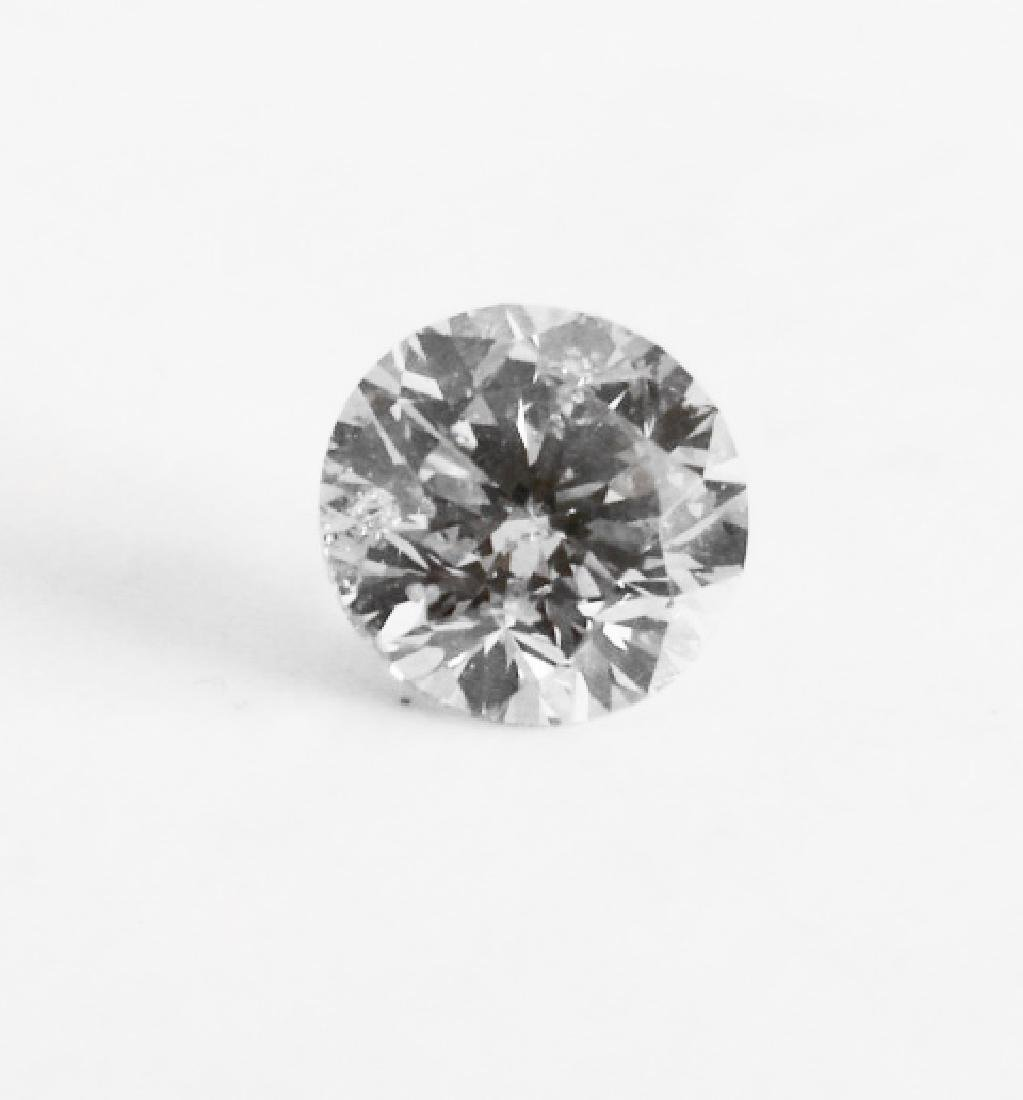 Loose Diamond Round Shape .92Ct SI1, Color Champang