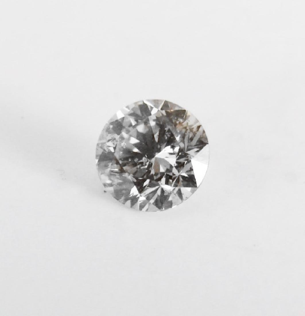 Loose Diamond Round Shape .92Ct SI1, Color Champang - 2