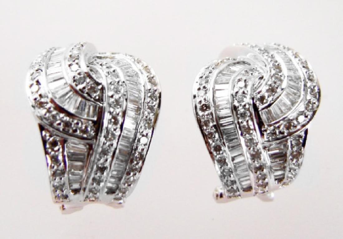 Diamond Earrings 2.45 Carat 18k W/g