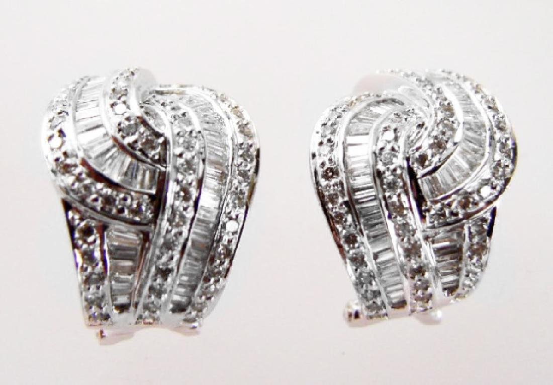 Diamond Earrings 2.45 Carat 18k W/g