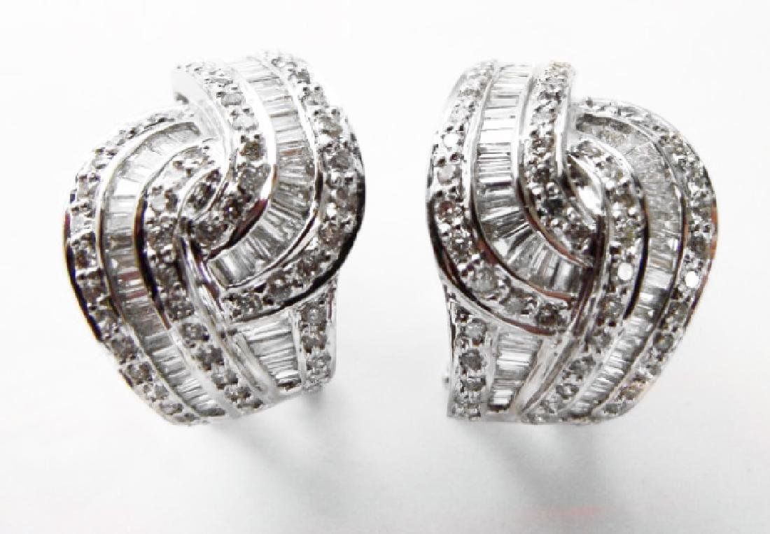 Diamond Earrings 2.45 Carat 18k W/g - 2
