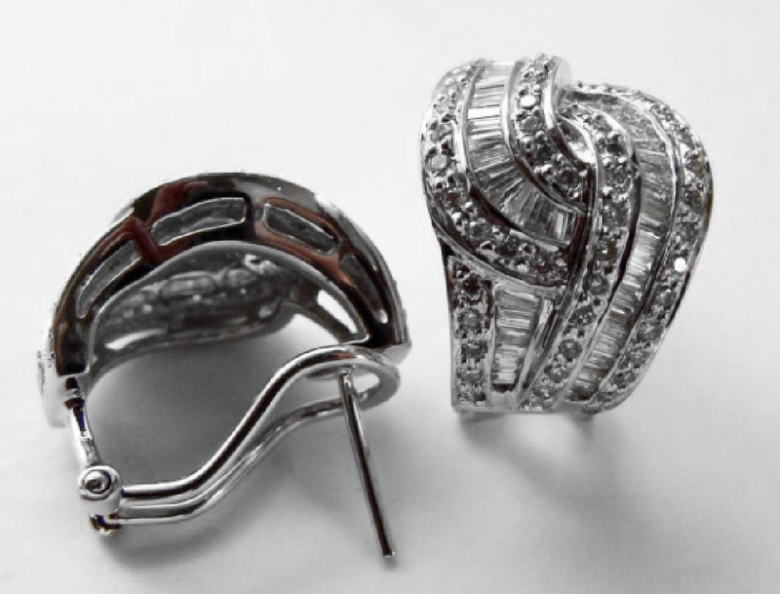 Diamond Earrings 2.45 Carat 18k W/g - 3